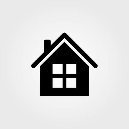 Home icon isolated on white background. Vector illustration. Ilustrace
