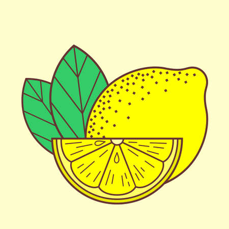 Lemon icon isolated on white background. Vector illustration Ilustrace