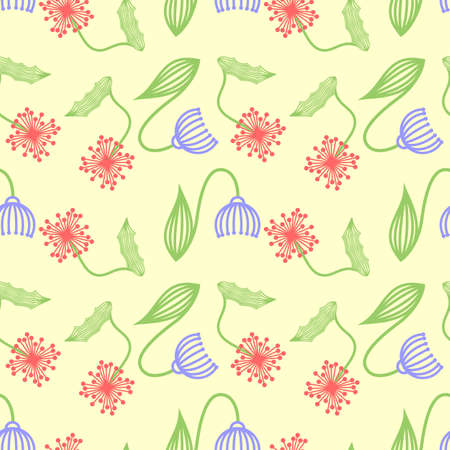 Floral abstract seamless pattern. Vector illustration. Ilustrace