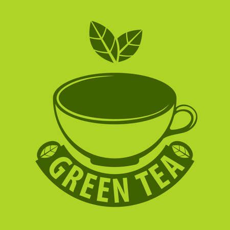 Green tea  design template. Vector illustration. Ilustrace