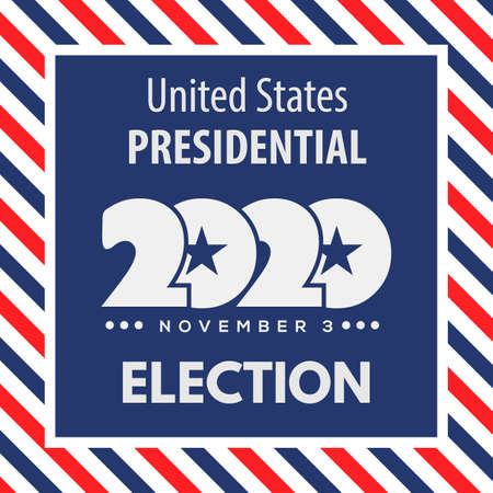 2020 United States of America presidential election design concept. Vector illustration