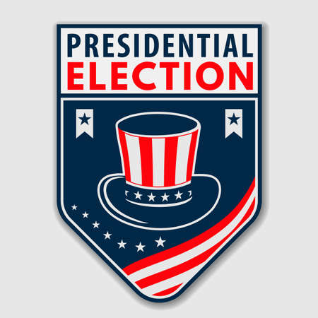 United States of America presidential election design concept. Vector illustration 矢量图像