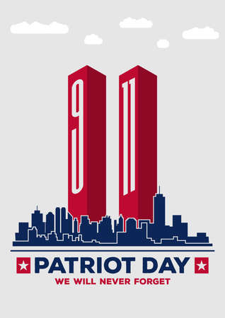 USA Patriot day poster design template. Vector illustration