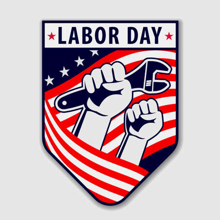 Labor Day poster, badge or banner. Vector illustration 矢量图像