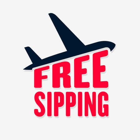 Free shipping icon. Air Delivery isolated on white background. Vector illustration