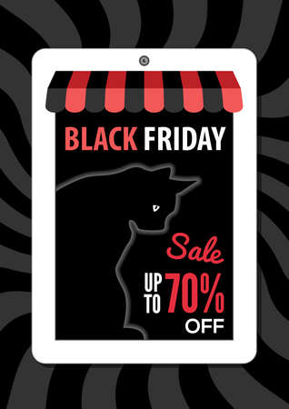 Black Friday, Electronic commerce design. Vector illustration