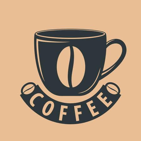 Coffee shop logo design template. Vector illustration