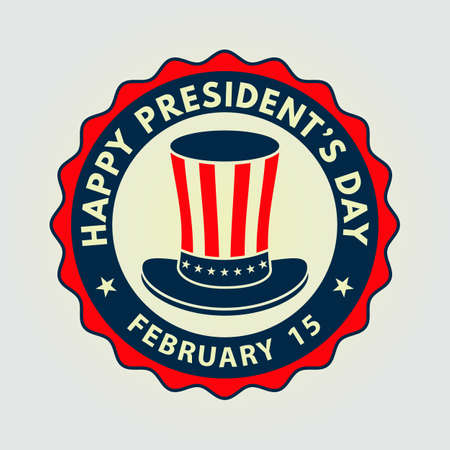 Happy Presidents day poster design with uncle Sam hat. Vector Illustration