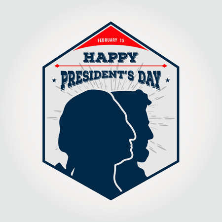 Happy Presidents day design template. Vintage style vector illustration 向量圖像