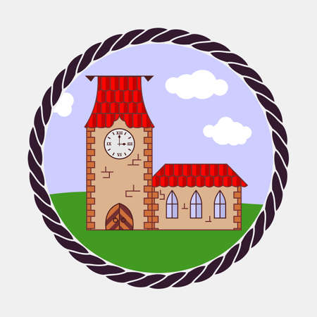 Castle icon. Flat design style vector illustration 向量圖像