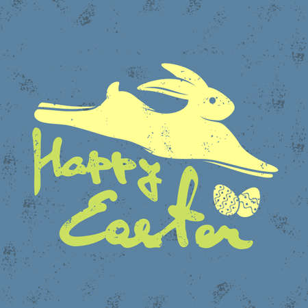 Happy Easter greeting card design template. Vector illustration