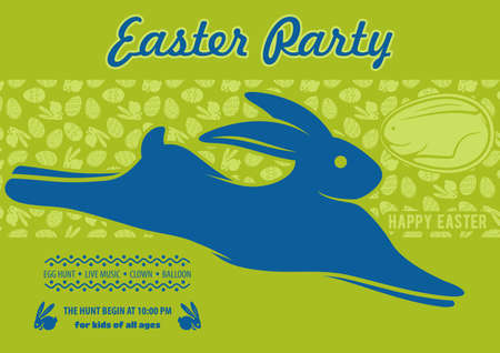 Easter Party poster design template. Vector illustration 向量圖像