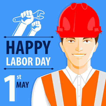 Labor Day poster or banner. Vector illustration