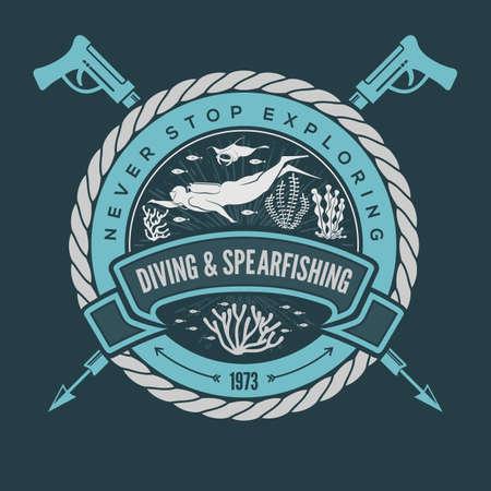 Diving Sport Club Emblem or design template