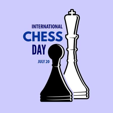 International Chess Day poster or banner design