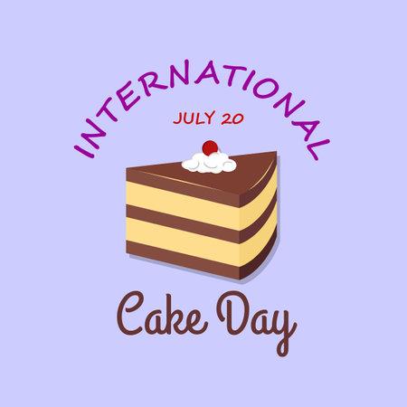 International Cake Day greeting card or banner Illustration
