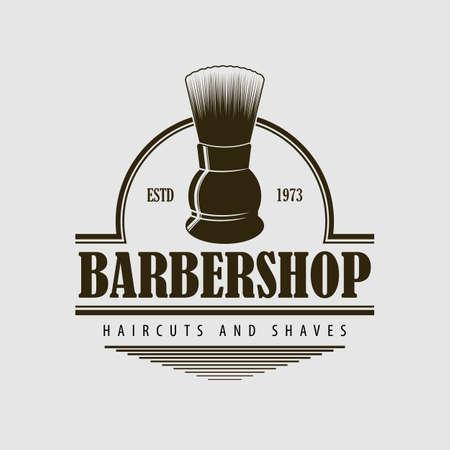 Barbershop  poster, banner with Shaving brush Иллюстрация