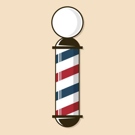 Barber Pole icon. Retro style vector illustration