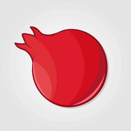 Pomegranate juicy fresh fruit. Flat style vector illustration Иллюстрация