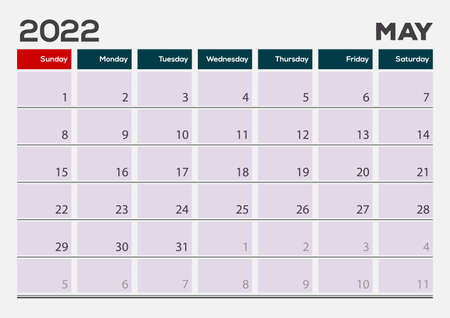 April of 2022 calendar or planner design. Vector Иллюстрация