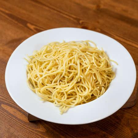 Fresh pasta, spaghetti close up Imagens