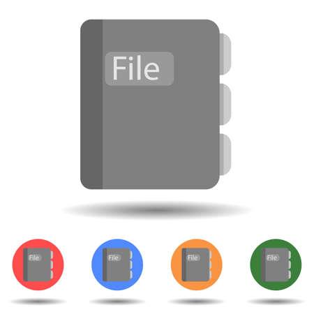 File book icon vector isolated on background Vektoros illusztráció