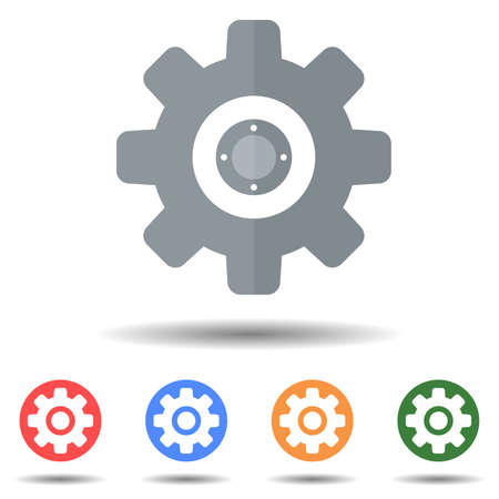 Setting, cogwheel icon vector isolated on background