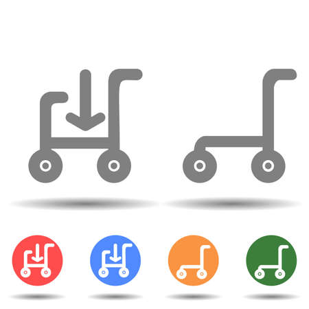 Cart in and out icon vector isolated on background