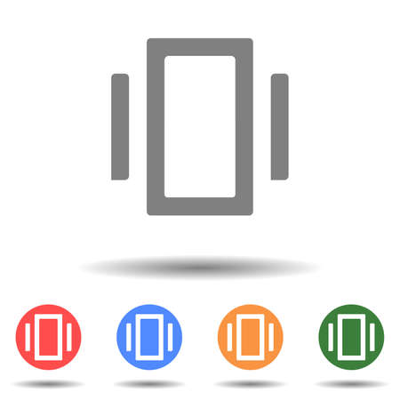 Rectangle center tool icon vector isolated on background
