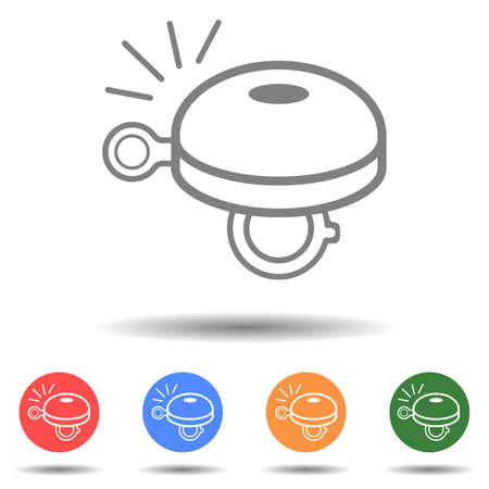 Bicycle bell icon vector isolated on background