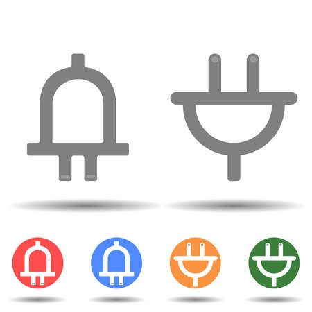 Plug up and down icon vector isolated on background Illustration