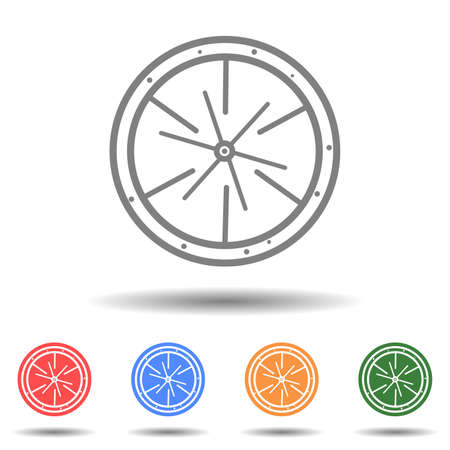 Car wheel icon vector isolated on background