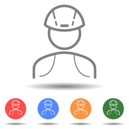 Construction man icon vector isolated on background