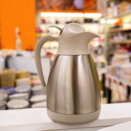 Premium kettle at the store close up