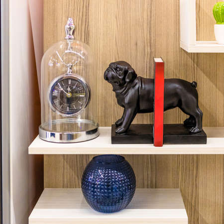 Dog clock decor for home isolated