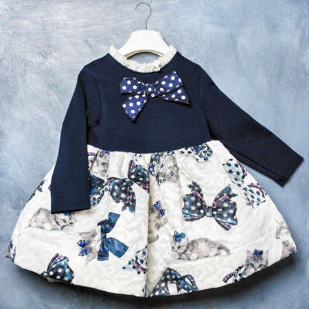 Baby Girls Lace Layers Plaid Dress, Kids Princess Birthday Dresses Clothes top view 免版税图像 - 156197618