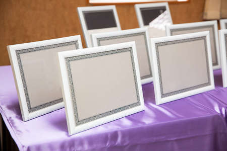Set of empty certificate frames and borders