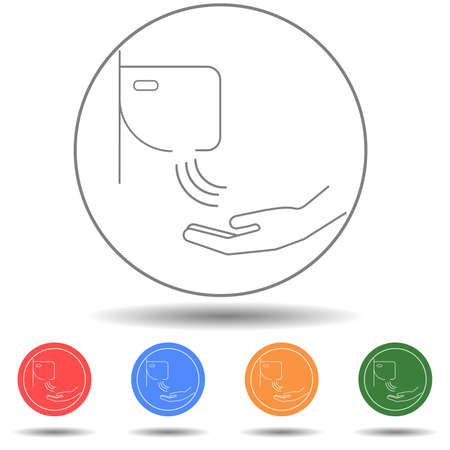 Hand dryer vector icon isolated background