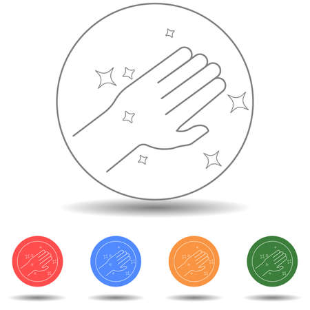 Clean hand vector icon isolated background 矢量图像