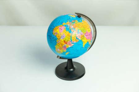 Table globe isolated white background