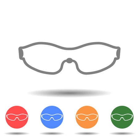 Cycling glasses icon vector isolated
