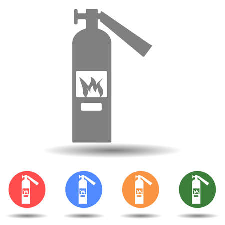 Fire extinguisher icon vector in simple style