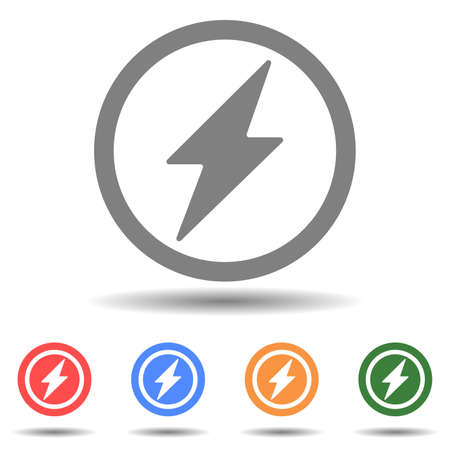 Electric power lightning icon vector