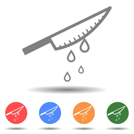 Steel knife with blood icon vector Ilustrace