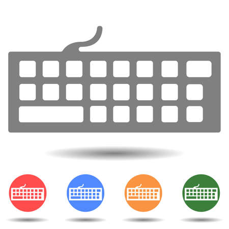 Portable keyboard vector icon