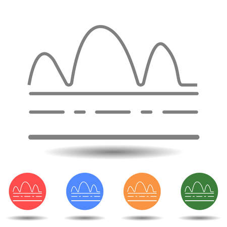 Mountain road icon vector in the simple style