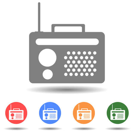 Old radio icon vector isolated