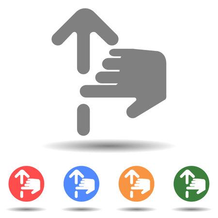 Gesture scroll swipe up icon vector