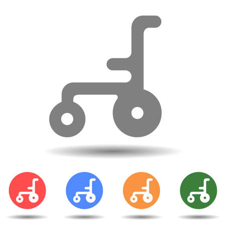 Wheelchair thin line vector icon isolated