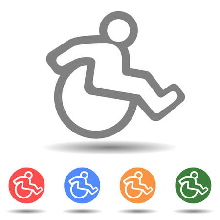 Wheelchair flat icon vector isolated